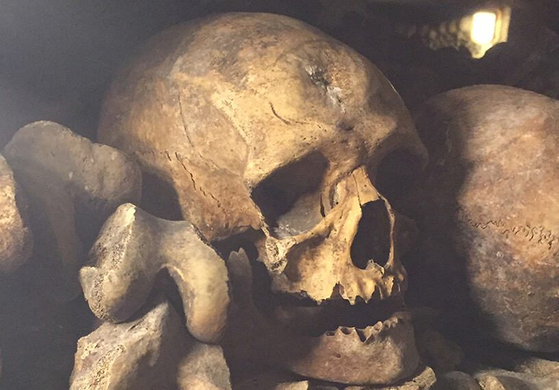 """""""Stop! This is the Empire of the Dead.""""- The Catacombs of Paris"""