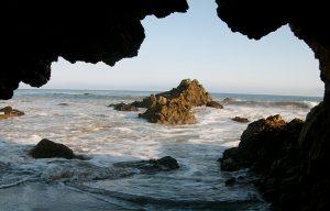 leo-carrillo-state-beach-sea-cave-rocky-cliff-sea-malories-adventures-beach-adventure