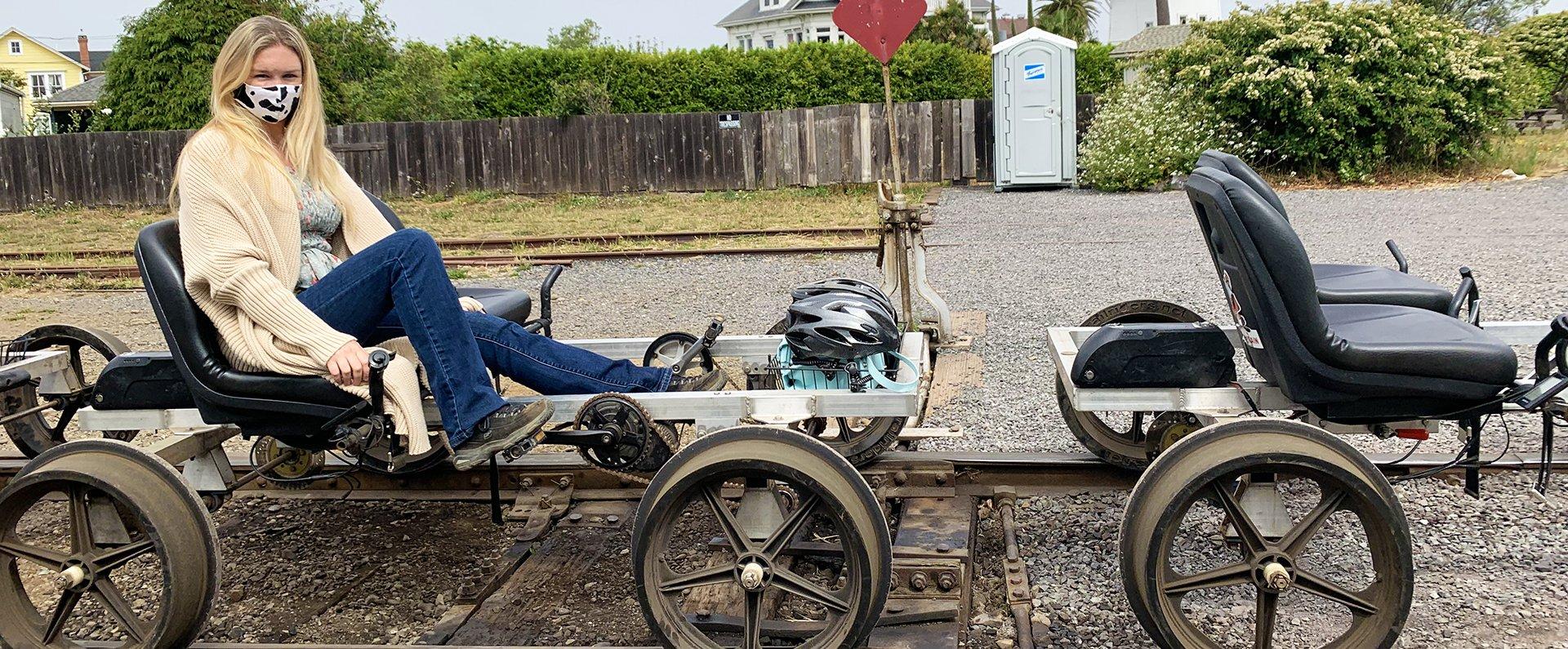 The Railbikes at the Skunk Train Offer a Unique Adventure